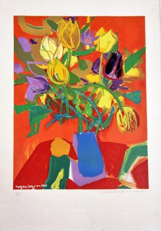 Литография Bezombes - Tulipes