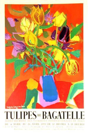 Литография Bezombes - Tulipes de Bagatelle