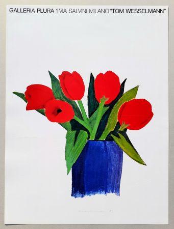 Литография Wesselmann - Tulips in a vase