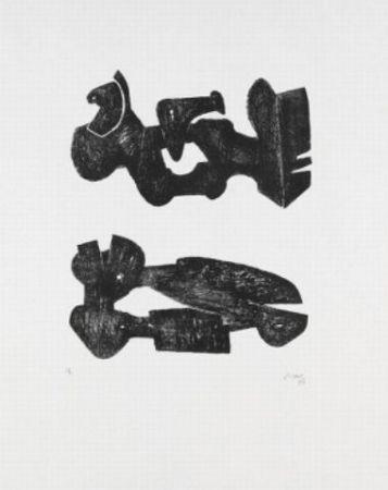 Литография Moore - Two black forms