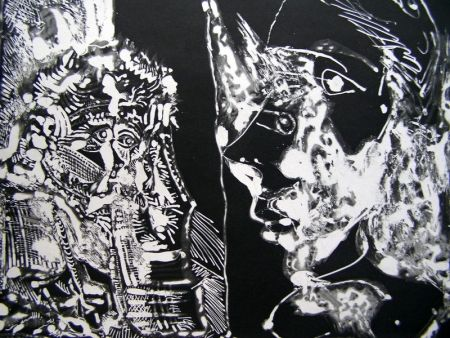 Акватинта Picasso - TWO BUSTS (WHITE LINE)