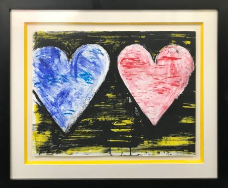 Литография Dine - TWO HEARTS AT SUNSET