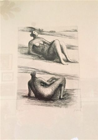 Офорт Moore - Two reclining figures