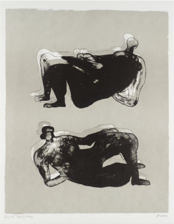 Литография Moore - Two Reclining Figures