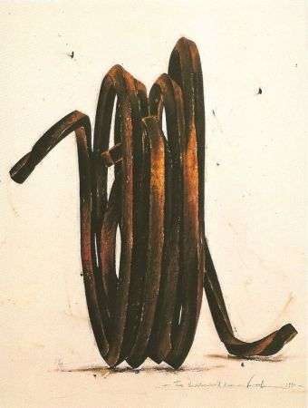 Сериграфия Venet - Two Undetermined Lines, 1990