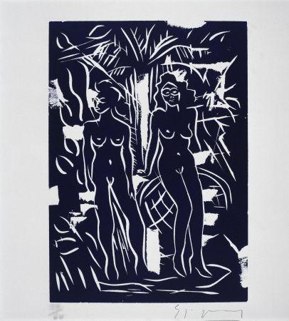 Линогравюра Szczesny - Two Women in Blue