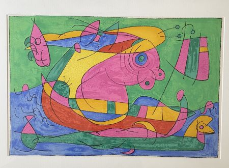 Литография Miró - UBU Roi (plate 13)