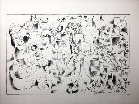 Литография Miró - Ubu Roi. Suite En Noir À Grandes Marges Des Treize Lithographies Pour Ubu Roi (1966).