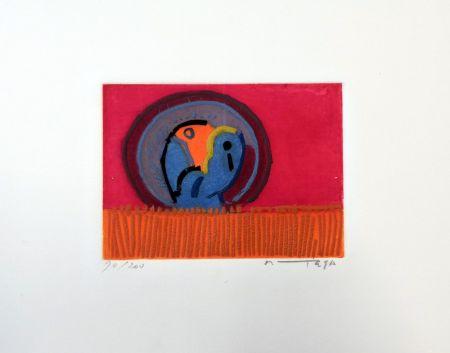 Офорт Ortega - Uccelli