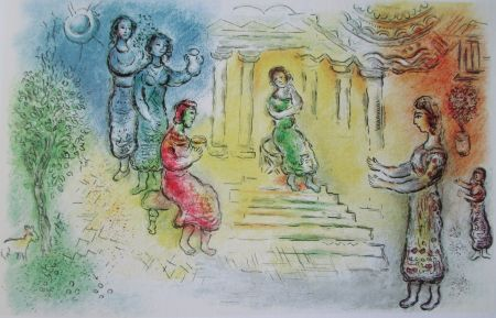Литография Chagall - Ulysse Chez Alkinoiis - L'odyssee Ii
