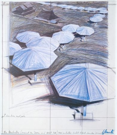 Гашение Christo - Umbrellas Blue I I I