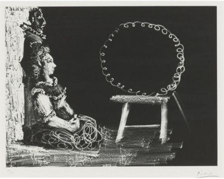 Акватинта Picasso - Un couple d'amateurs