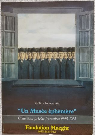 Гашение Magritte - Un Musee Ephemere