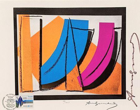 Литография Warhol - UN Stamp