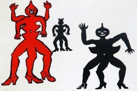 Литография Calder - Une famille de là bas