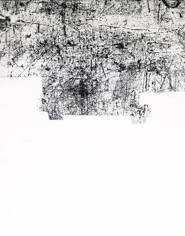 Офорт И Аквитанта Chillida - Une helene de vent ou fumee III