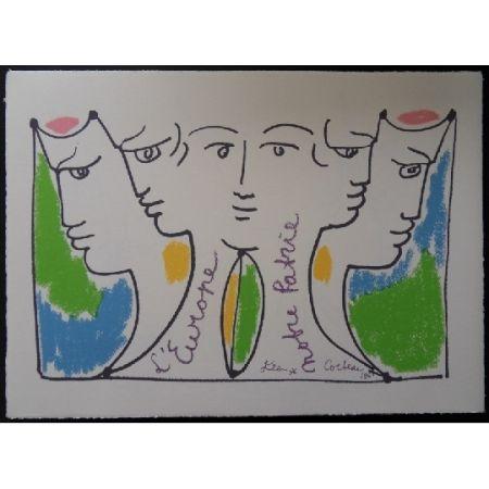 Литография Cocteau - Union Européenne