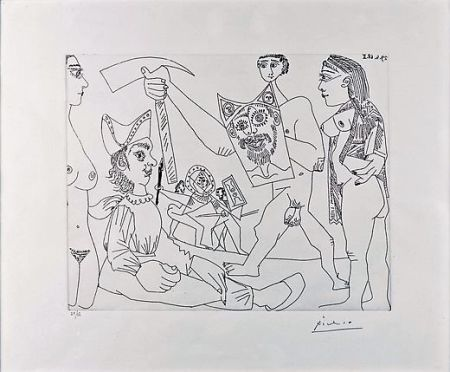 Офорт Picasso - UNTITLED
