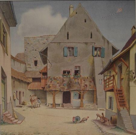 Литография Stöcklin - Untitled