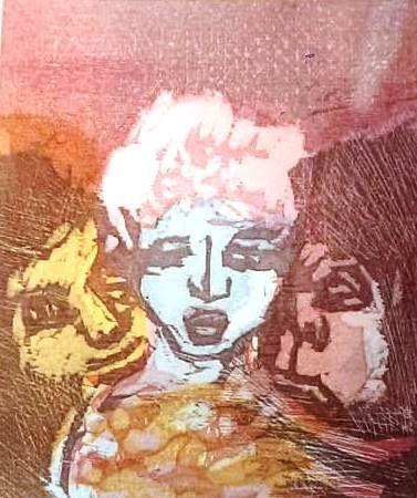 Литография Maccari - UNTITLED