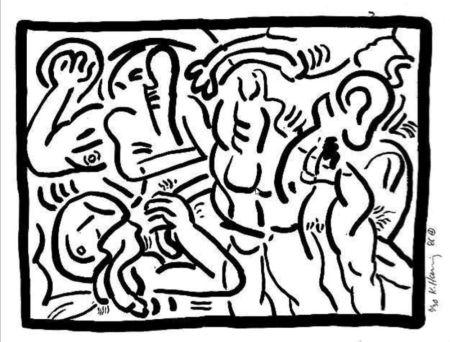 Многоэкземплярное Произведение Haring - Untitled