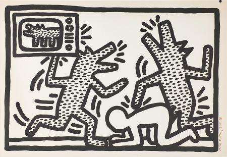 Литография Haring - Untitled (3)