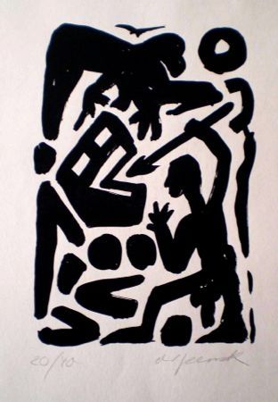 Литография Penck - Untitled 6