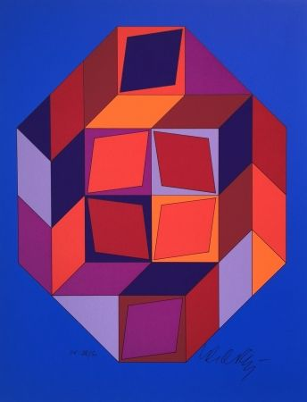 Сериграфия Vasarely - Untitled #7