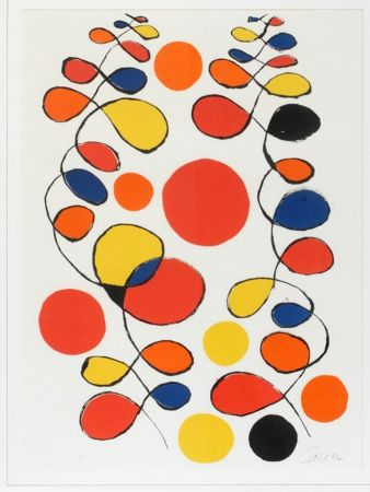 Литография Calder - Untitled (Composition With Spirals And Circles)