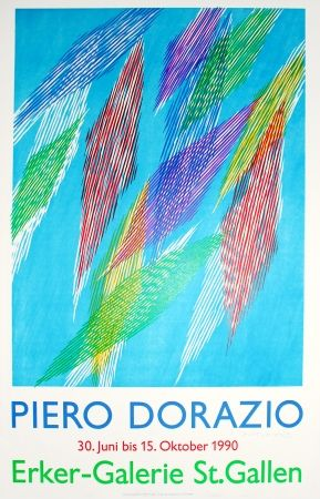Литография Dorazio - Untitled (Exhibition Poster)