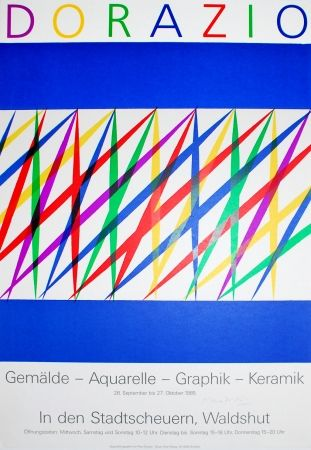 Литография Dorazio - Untitled (Exhibition poster)