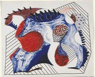 Литография Hockney - Untitled for Joel Wachs