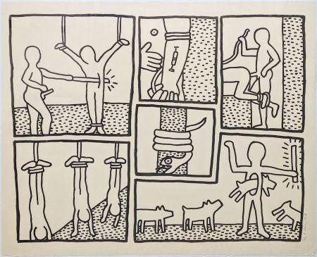 Сериграфия Haring - UNTITLED (FROM BLUEPRINT DRAWINGS)