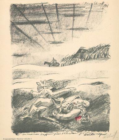 Литография Scharff - Untitled, from Kriegsbilderbogen Münchner Künstler