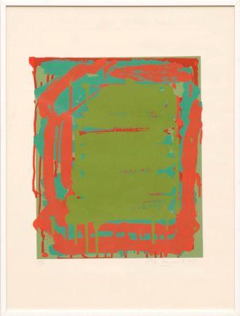 Сериграфия Hoyland - Untitled Green