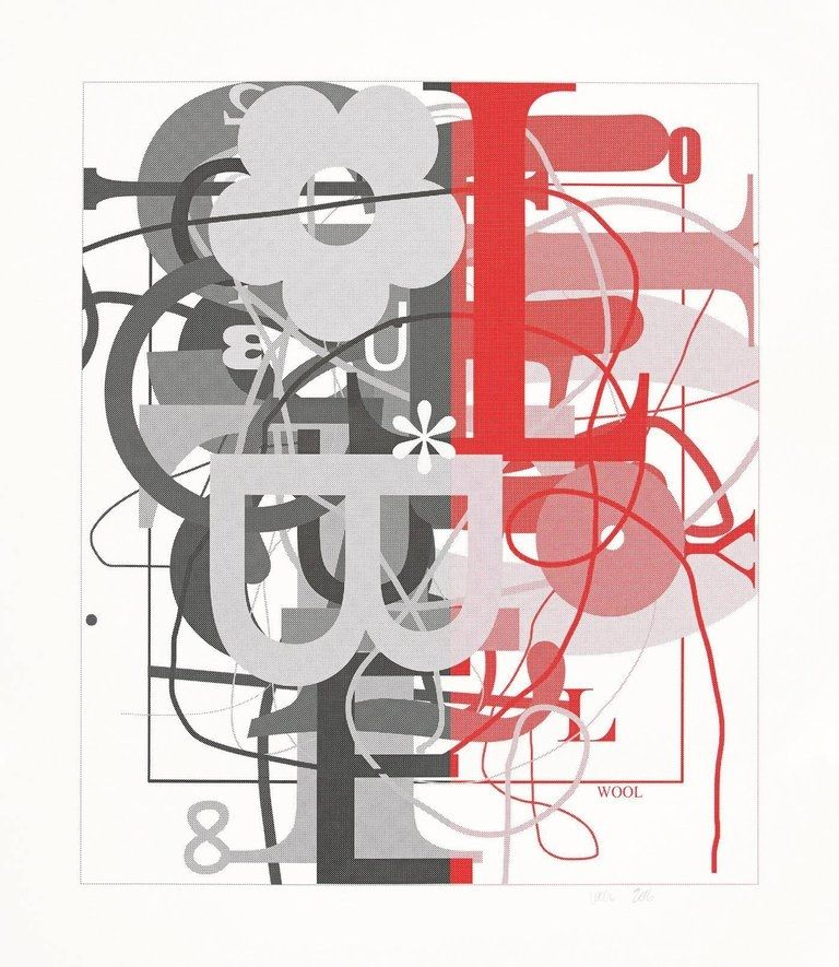 Сериграфия Wool - Untitled II