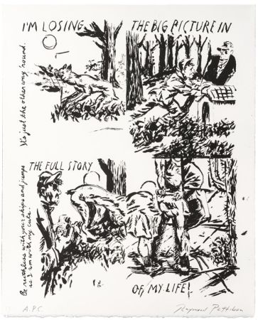 Литография Pettibon - Untitled (I'm Losing the Big Picture In the Full Story of My Life)