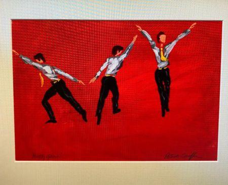 "Нет Никаких Технических Caulfield - Untitled (Male Costume Design for ""Party Game"" 1984"