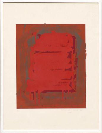 Сериграфия Hoyland - Untitled Red