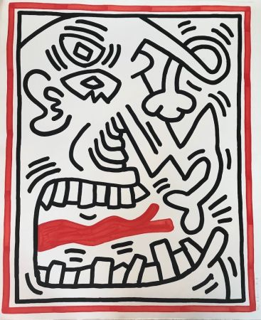 Литография Haring - Untitled (Red Tongue)