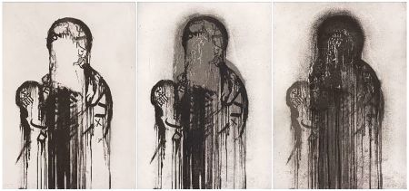 Гравюра Plensa - Untitled (Triptych)