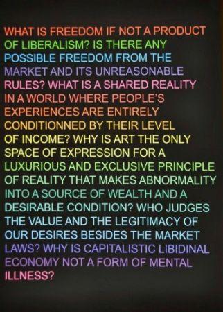 Сериграфия Fontaine - Untitled: (What is freedom?)