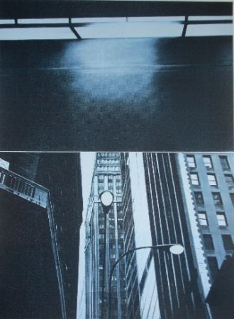 Сериграфия Monory - Usa 76 - Skyscrapers