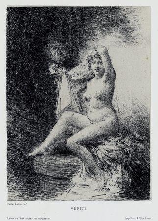 Литография Fantin-Latour - Vérité (petite planche)