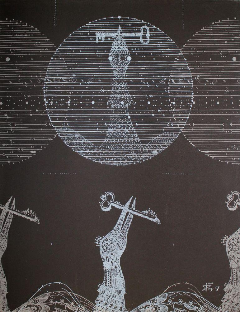 Литография Ponç - Vögel und Schlüssel (Birds and Key)