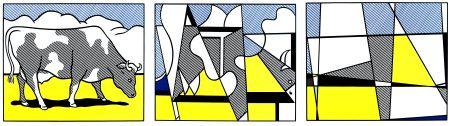 Литография Lichtenstein - Vaches