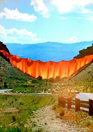 Гашение Christo - Valley curtain, Rifle - Colorado 1-4
