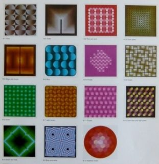 Литография Bird - Vasarely reflections - 15 lithographs