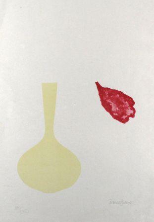 Литография Greaves - Vase and Falling Petal