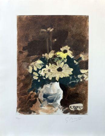 Офорт Braque (After) - Vase de fleurs jaunes